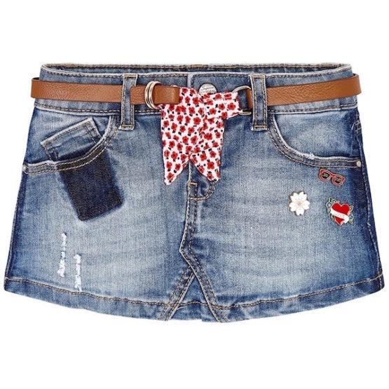 Юбка джинсовая с ремешком Mayoral